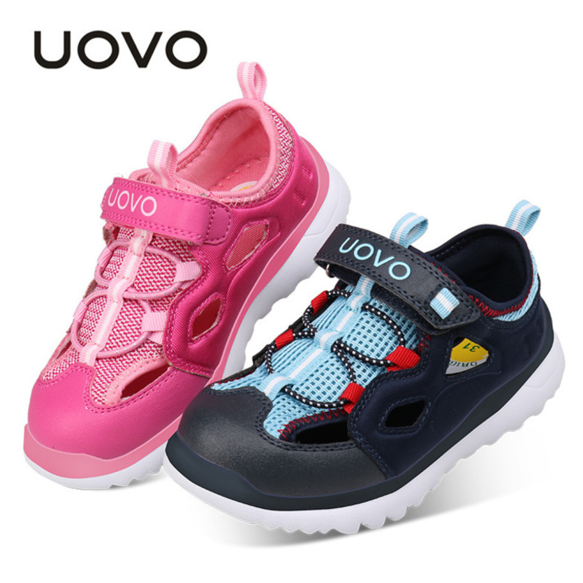 UOVO 2018 Summer Mesh Toddler Boy Shoes Comfortable Kids Trainers Sports Running School Boys Sneakers Children Casual Shoes