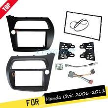 LONGSHI Двойной Дин фасции для Honda Civic Радио DVD стерео панель тире установка уход за кожей лица рамки с провода жгут телевизионные антенны 2DIN