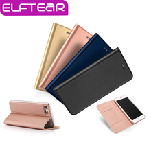 ELFTEAR Slim Leather Flip Phone Case for iPhone 6 6s 6 plus 6s plus 7 7 plus Magnetic Stand Cover With Card Slot Fundas Capa