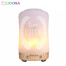 COOSA Fire Flickering Emulation Essential Oil Diffuser 100ml Glass Ultrasonic Air Humidifier Romantic Mist for Gift