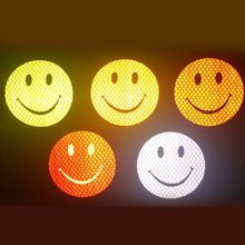 Car Reflective Smiley Stickers for Safety Driving