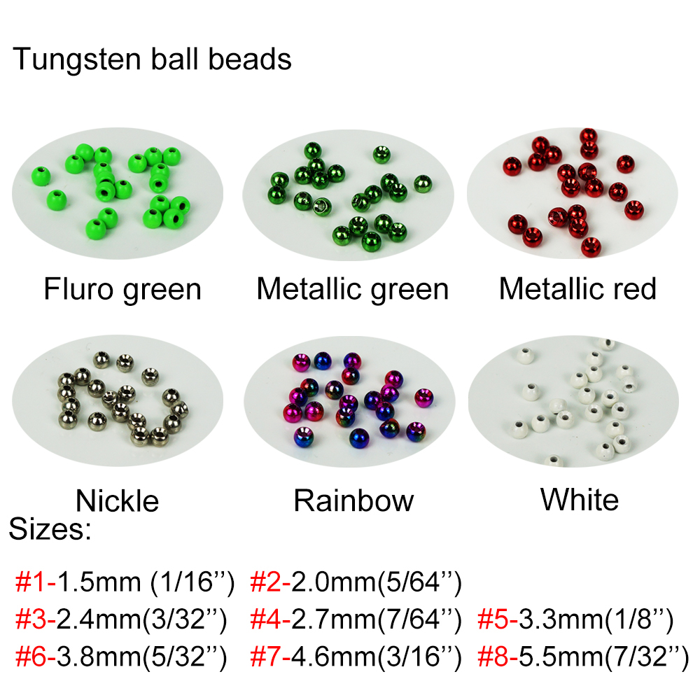 2017 Best Quality Aventik 20pcs/lot Tungsten Fly Fishing Round Ball Beads Nymph Head Flies Beads Green Red With Silicone Pad tungsten alloy steel woodworking router bit buddha beads ball knife beads tools fresas para cnc freze ucu wooden beads drill