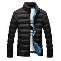 Vendita calda del Mens di Inverno Casual Giacca di Spessore Parka Capispalla per Uomo Giacca di Cotone Solido Chaquetas Hombre Maschio Sottile del Rivestimento di Grande Formato m-5XL