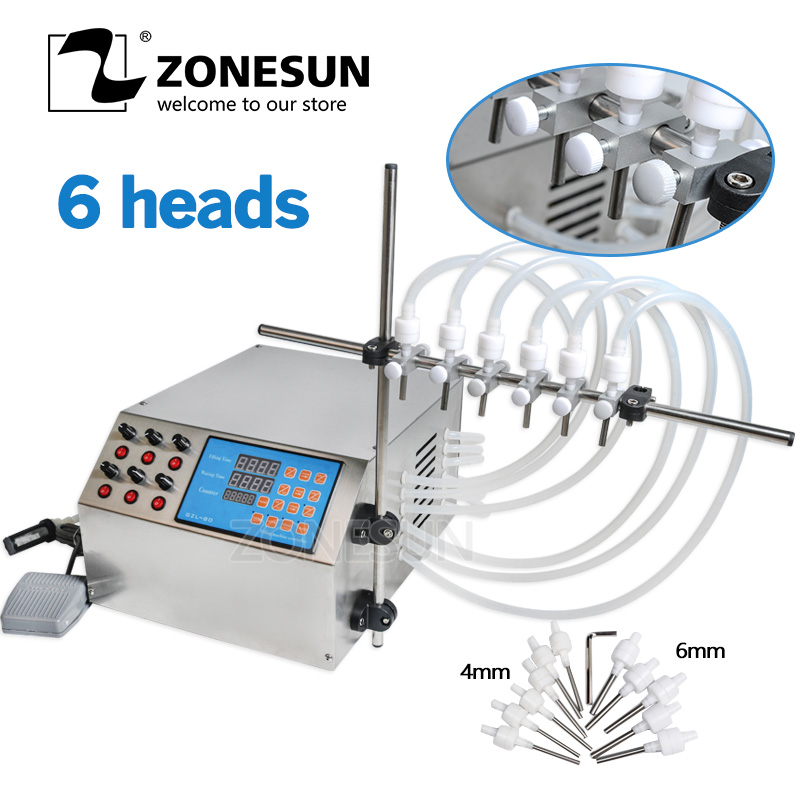 ZONESUN Electric Digital Control Pump Liquid Filling Machine 3 4000ml For Bottle Perfume Vial filler Water