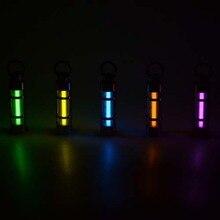 YUPARD Automatic light 25 years Titanium tritium keychain key ring fluorescent tube lifesaving emergency lights