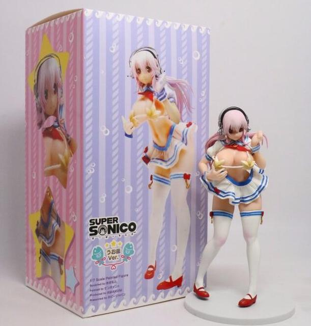 23cm Super Sonico sexy cake Anime Action Figure PVC New Collection figures toys Collection for Christmas gift