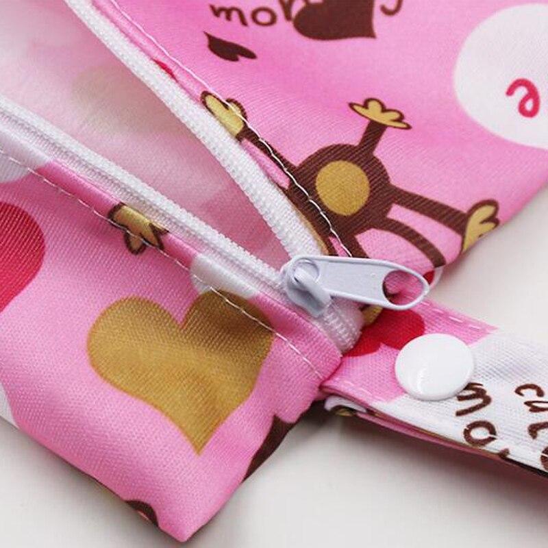Waterproof Reusable Wet Bag Printed Pocket Nappy Bags PUL Travel Wet Dry Bags Mini Size 25x20cm Diaper Bag