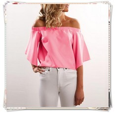 off shoulder women blouse