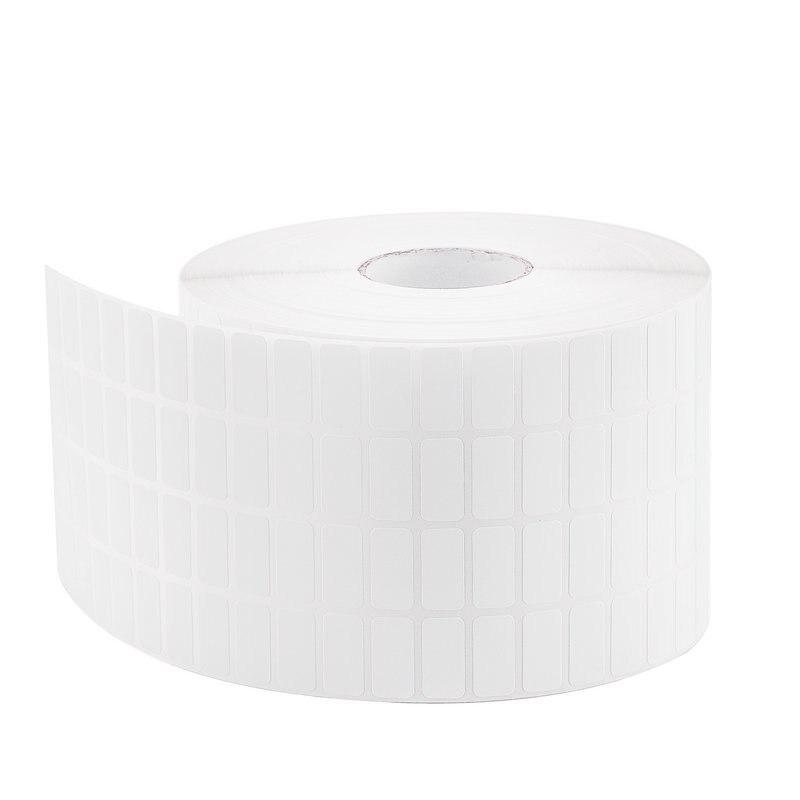Ijverig 4 Rij Wit Zelfklevend Sticky Label Beschrijfbare Naam Stickers Blank Note Label Bar Code Voor Thermische Printer 20mm X 10mm X 30000 Pcs