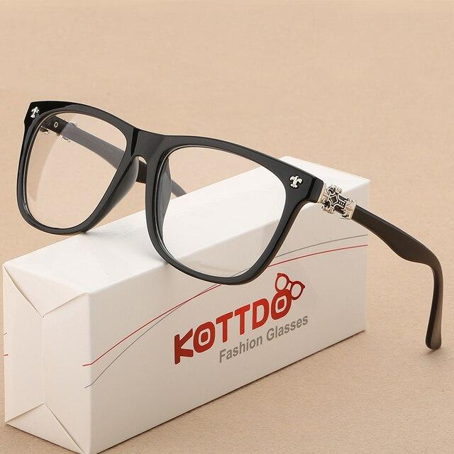0c911193eb2c6 Óculos Vintage Homens Mulheres Óculos Óptica Para óculos de Miopia Óculos  de Armação Simples Retro Olho