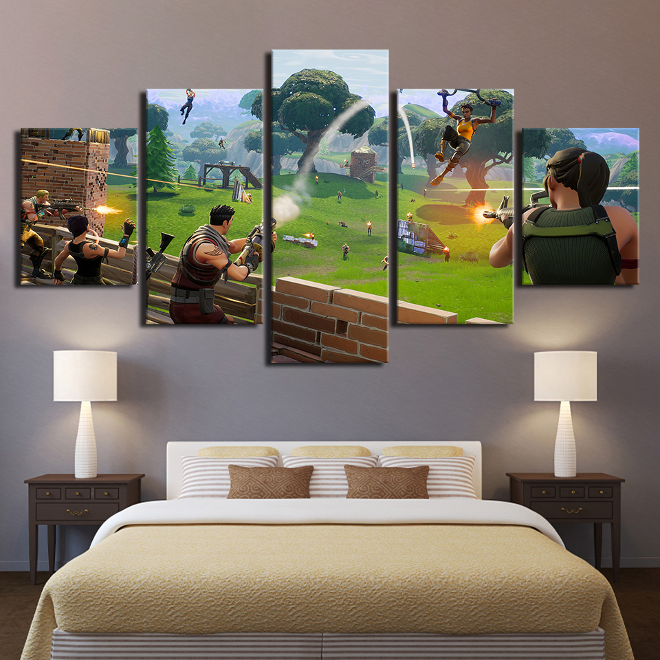 Canvas Paintings Home Decoration HD Prints 5 Pieces Game Cartoon Figure Posters Living Room Wall Art