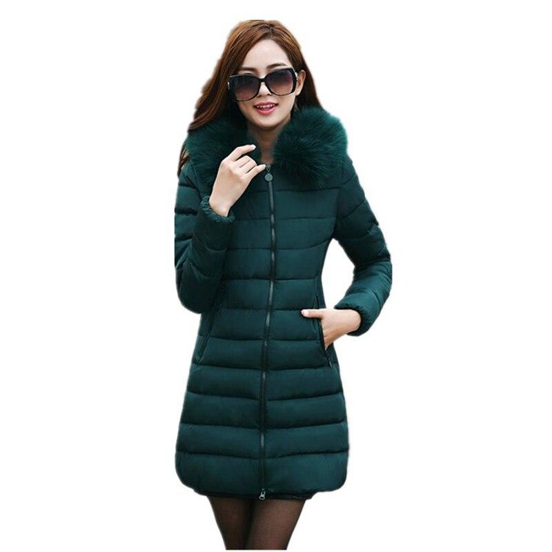 Vestes d'hiver femmes Nouveaux hiver vers le bas coton robe, mince, dame de coton rembourré veste, épaissie, extra taille veste