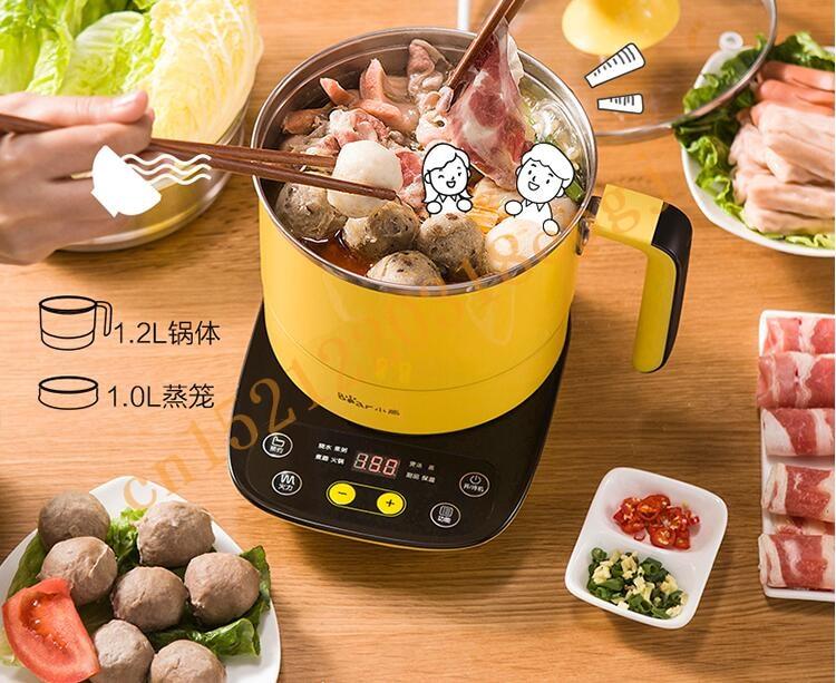 220 В Электрический Hot Pot Multi Плита Нержавеющаясталь Многофункциональный Электрический Пособия по кулинарии горшок для студентов Обед ЕС/AU/UK /США Plug