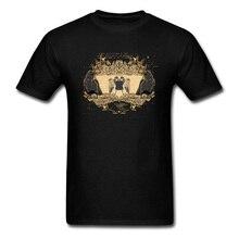 цена на Men T-shirts Ode To The Crow Tshirt Europe Tops 100% Cotton Fabric O-Neck Short Sleeve Custom Tee Shirt Lovers Day Drop Shipping