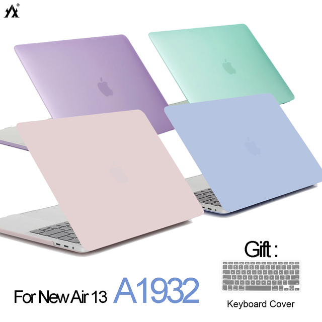 Crystal Matte Laptop case For apple Macbook Air 13 A1932 2018 Air Pro Retina 11 13 15 With Touch bar for macbook 12 inch cover