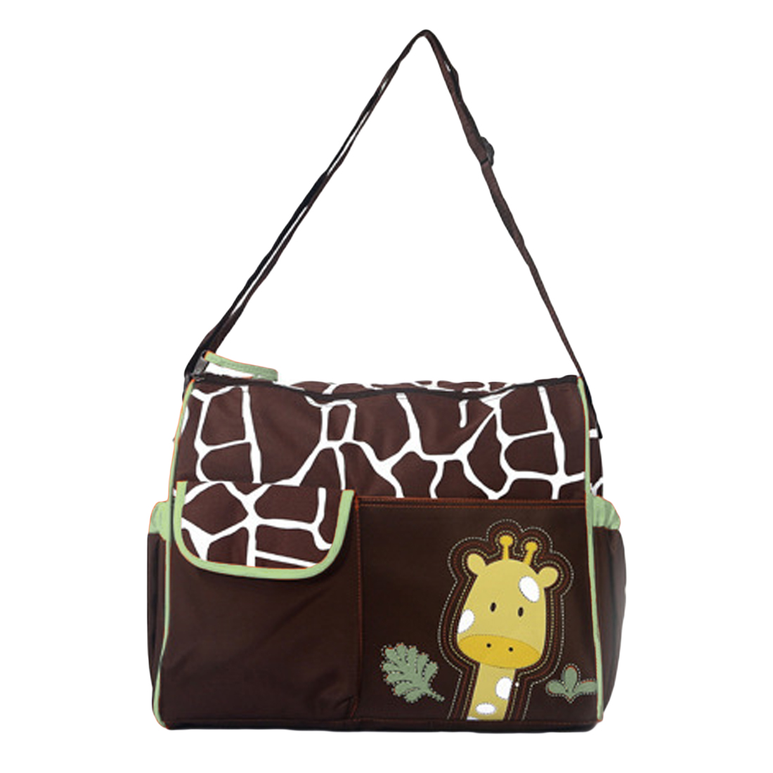 Mum Bag Diagonal Shoulder Large Capacity Baby Diaper Nappy Changing Bag Giraffe Style Baby Travel Nappy Bag Diaper Backpack