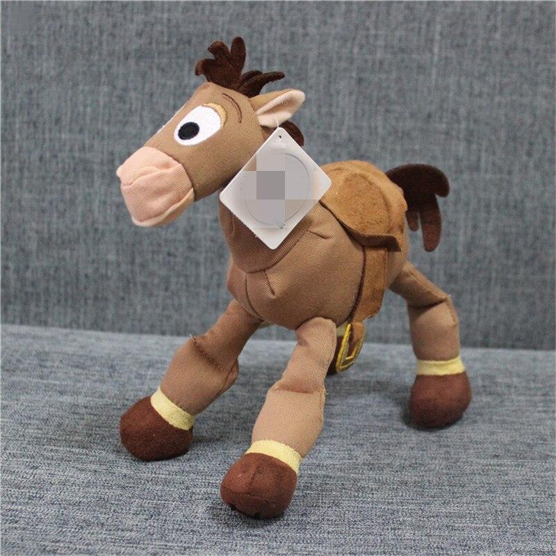 "1 Piece 25cm 9.8""Toy Story Plush WOODY Sheriff Bullseye The Horse Children Gift"