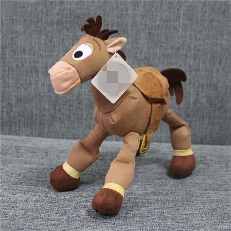 1 piece 25cm 9.8Toy Story Plush WOODY Sheriff Bullseye The Horse Children Gift