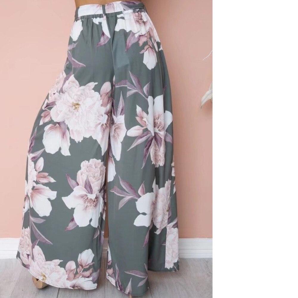 6e65d33b8b Lily Rosie Girl Floral Print Wide Leg Pants Women Long Casual Pant
