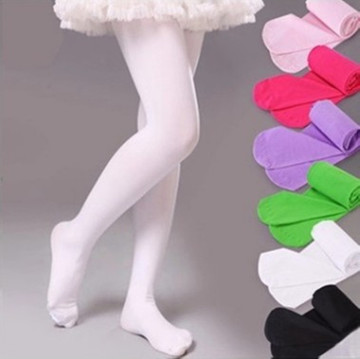 Spring Candy Color Kids Pantyhose Ballet Dance Tights for Girls Stocking Children Velvet Solid White Pantyhose Girls Tights 1