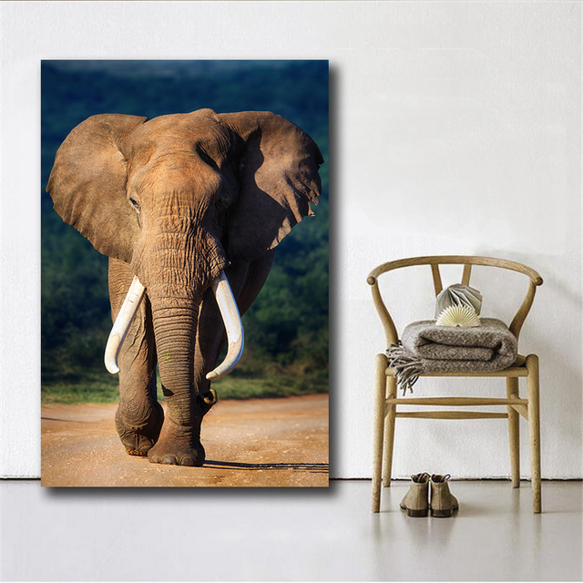 1 Piece Hot selling Animal Oil Painting Elephant Oil Painting ...