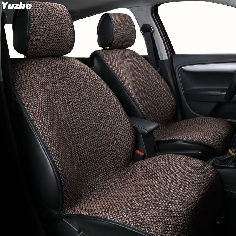Yuzhe Auto flax set car seat covers For vw polo 6r passat b5 b6 golf 4 5 6 7 tiguan jetta touareg automobiles car accessories kokololee flax car seat covers for volkswagen vw passat polo golf tiguan jetta touareg auto accessorie car styling
