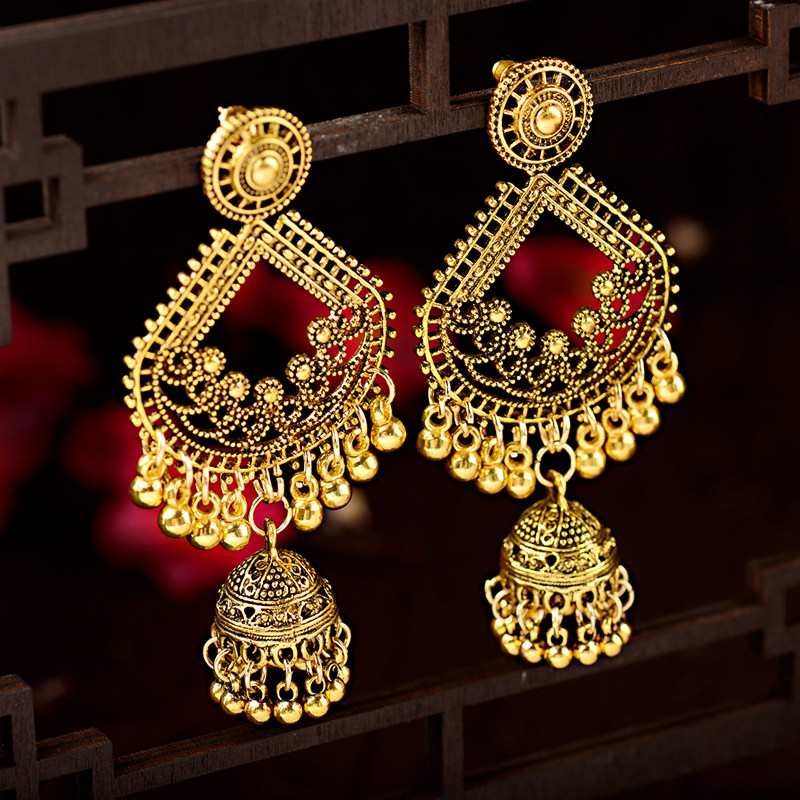 embedded stones Tribal Dangling Jhumki Indian Traditional Jewellery for Stylish Women and Girls by SP Jewels