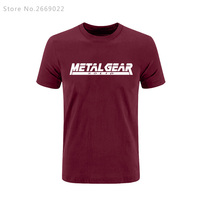2017 Summer Game MGS Metal Gear Solid Letter Printed Mens Men T Shirt T Shirt Short