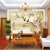 Custom 3D Print DIY Fabric Textile Wallcoverings For Walls Matt Silk For Living Room Flowers Chinese