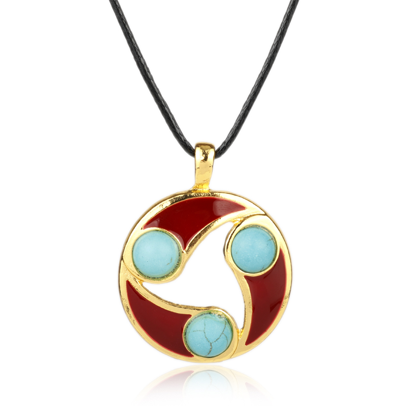 MOCHUN Wholesale Online Game Jewelry Dota 2 Pendant Necklace Leather Rope Chain Necklace Men Women Choker Necklace-30