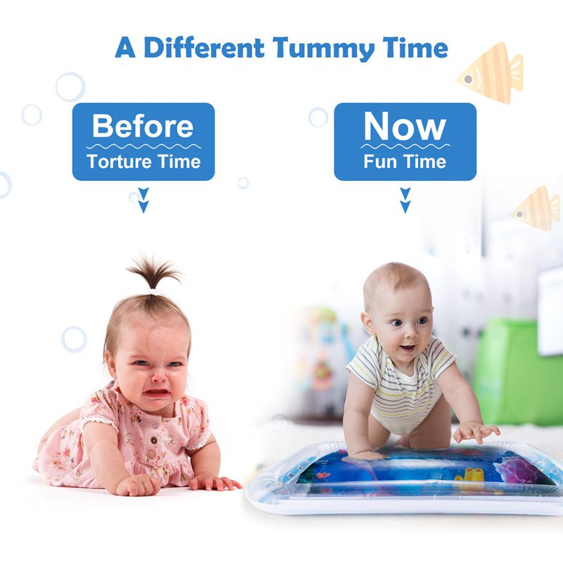 Baby Water Play Mat Toys Watermat Inflatable Tummy Time Playmat For Babies Toddler Activity Play Center Baby Water Play Mat Toys Watermat Inflatable Tummy Time Playmat For Babies Toddler Activity Play Center Water Mat For Kids