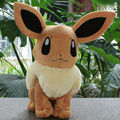 """Дешевые цены Бесплатная доставка Pokemon Плюшевые Игрушки 13 """"34 см Большой Сидя Eevee Мягкие Игрушки Коллекционные Рождество подарок"""