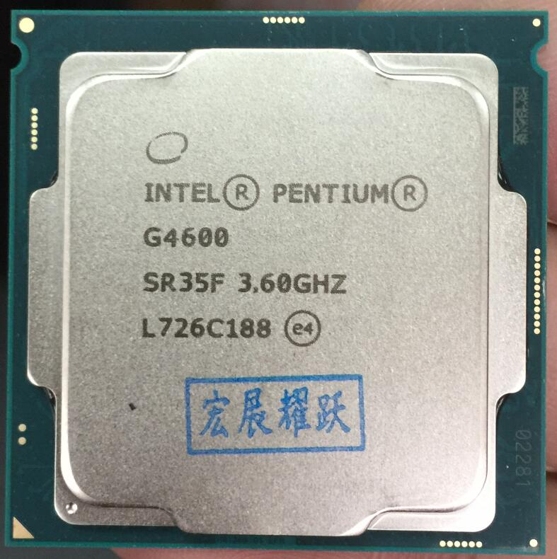 Intel  Pentium PC Computer Desktop  Processor G4600 CPU LGA1151-land FC-LGA 14 Nanometers  Dual-Core  CPU