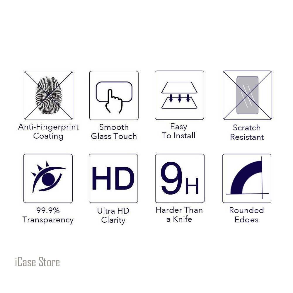 9 9h 強化ガラススクリーンプロテクター Zte ブレード A1 C880U ヴェール保護強化フィルム A1 C880U 気性保護 trempe