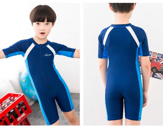 92a1ccd726 IASKY Child One Piece Swimwear Boys Girls Swimsuits Kids Bathing Suits  Swimsuit Children Beach Wear Diving