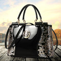 2016 mulheres de couro bolsa de marca bolsa de ombro moda de luxo tote Lantejoulas Embreagem patente de design saco do mensageiro diamante Q30Y