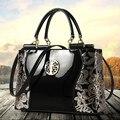 2016 patent leather women handbag brand shoulder bag luxury fashion tote Clutch Sequins design patent diamond messenger bag Q30Y
