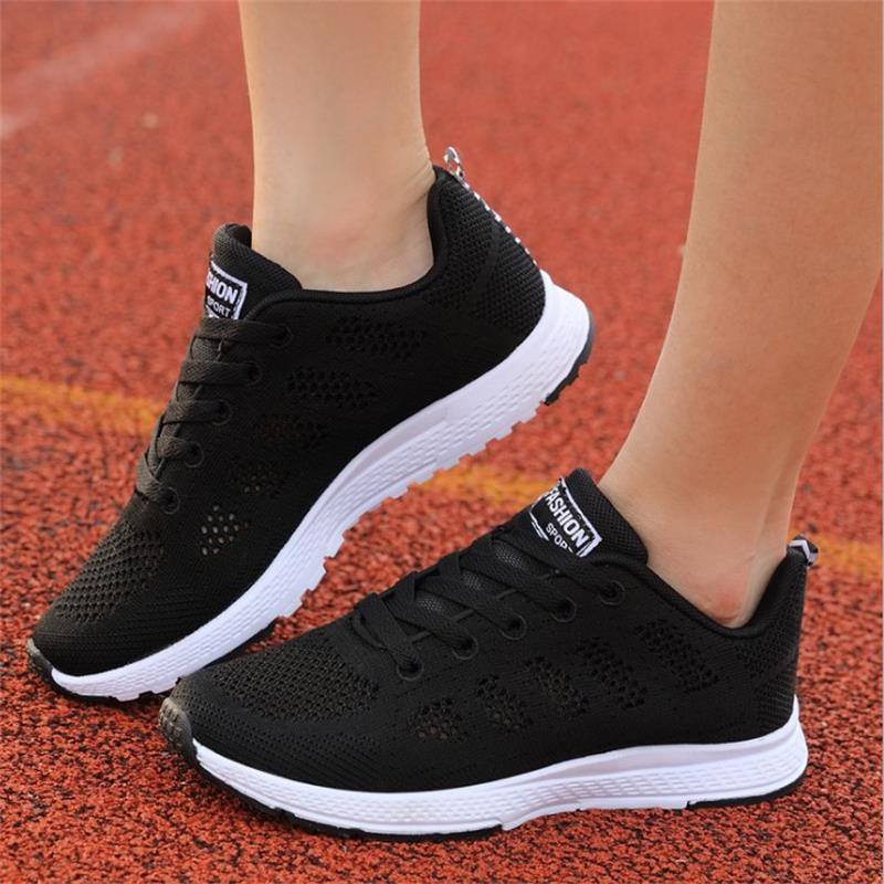 Women Casual Shoes Breathable Basic Fashion Air Mesh Lace Up Summer Shoes Women Comfort Ladies Causal Shoes Footwear DYD145 2018 new summer women casual shoes lace up woman sneakers breathable flat footwear female mesh shoes fashion dt926