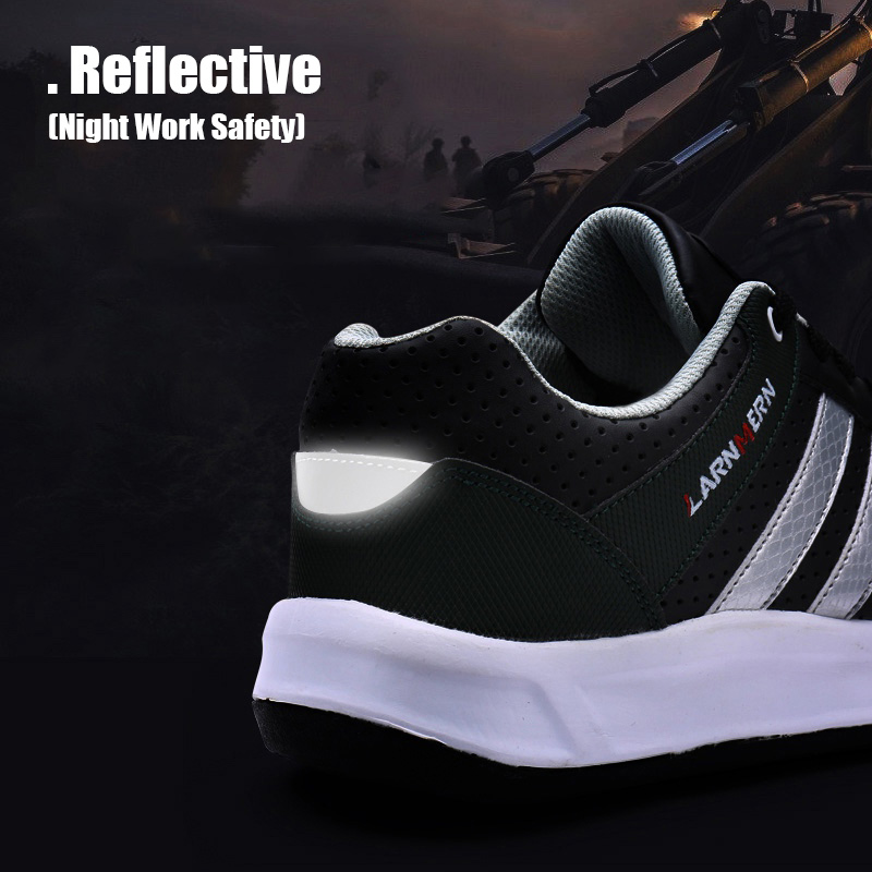 Bright Larnmern Men Steel Toe Cap Work Safety Shoes Breathable Outdoor Security Footwear For Man Construction Sneaker Puncture Proof Back To Search Resultsshoes