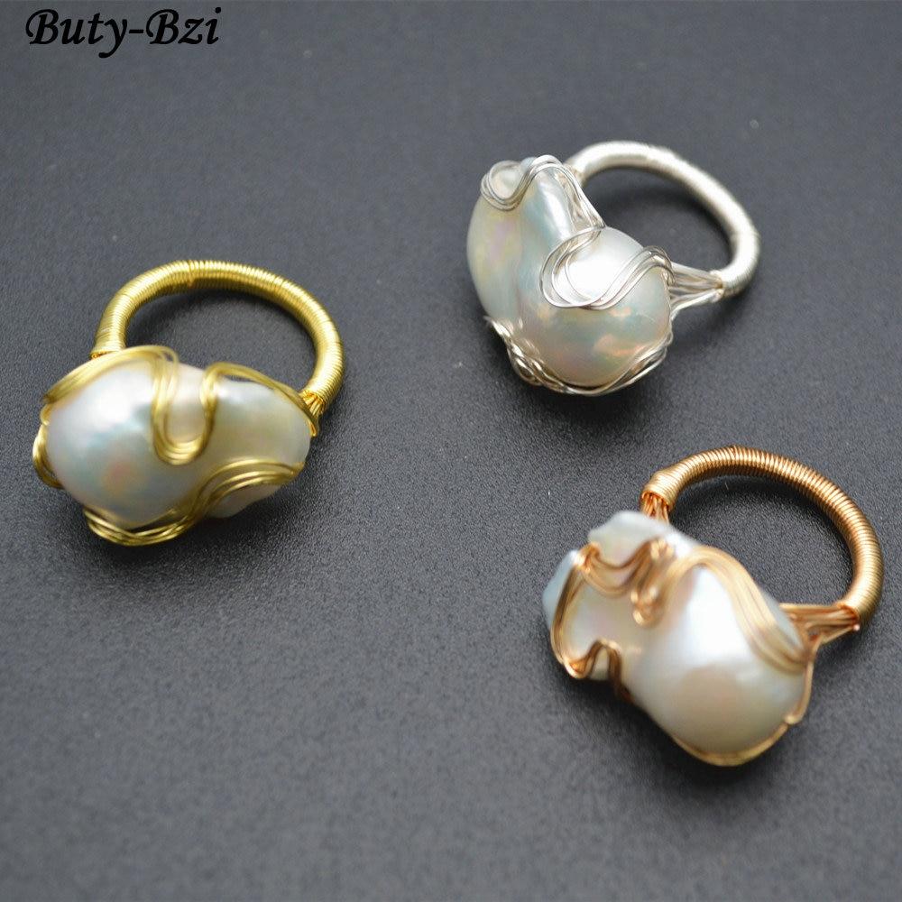 1 stück Hochwertigen Handgemachten Natürlichen Süßwasser Weiß Perle ...