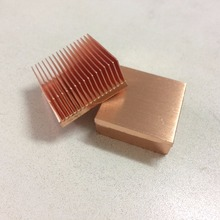 DIY 2pcs/lot 25x25x11mm copper heat sink power supply CPU Copper heatsink single board computers heat sink