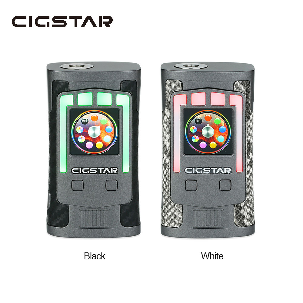 Original Cigstar Greek Temple 230W TC Box MOD with 230W Max Output & 1.3-inch HD Color Display E-cig Vape Mod No Battery Include original lost vape therion dna75 75w tc box mod