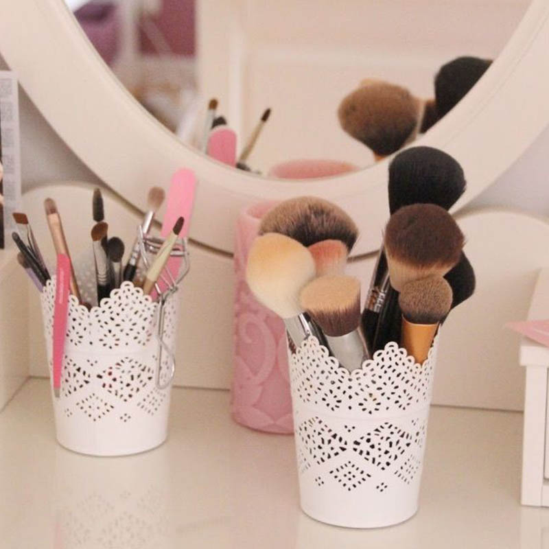 Hollow Cosmetic Brush Box Makeup Brushes Cylinder Holder Storage Empty Holder Cosmetic Brush Bag Brushes Organizer Make Up Tools