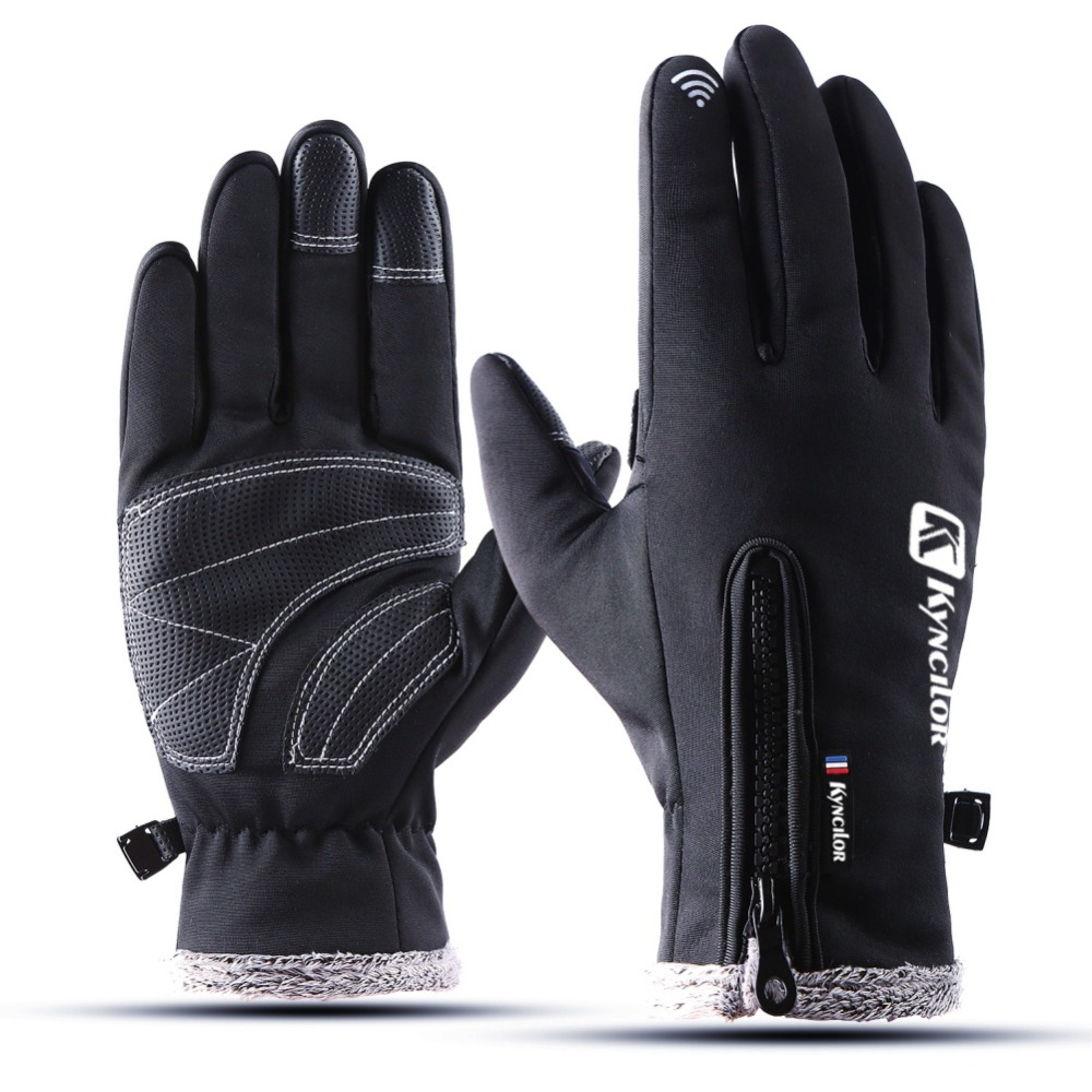 Thermal Ski Gloves Winter Fleece Waterproof Snowboard Gloves Snow Motorcycle Skiing Gloves Sportswear Audlt Kids Gloves Dropship
