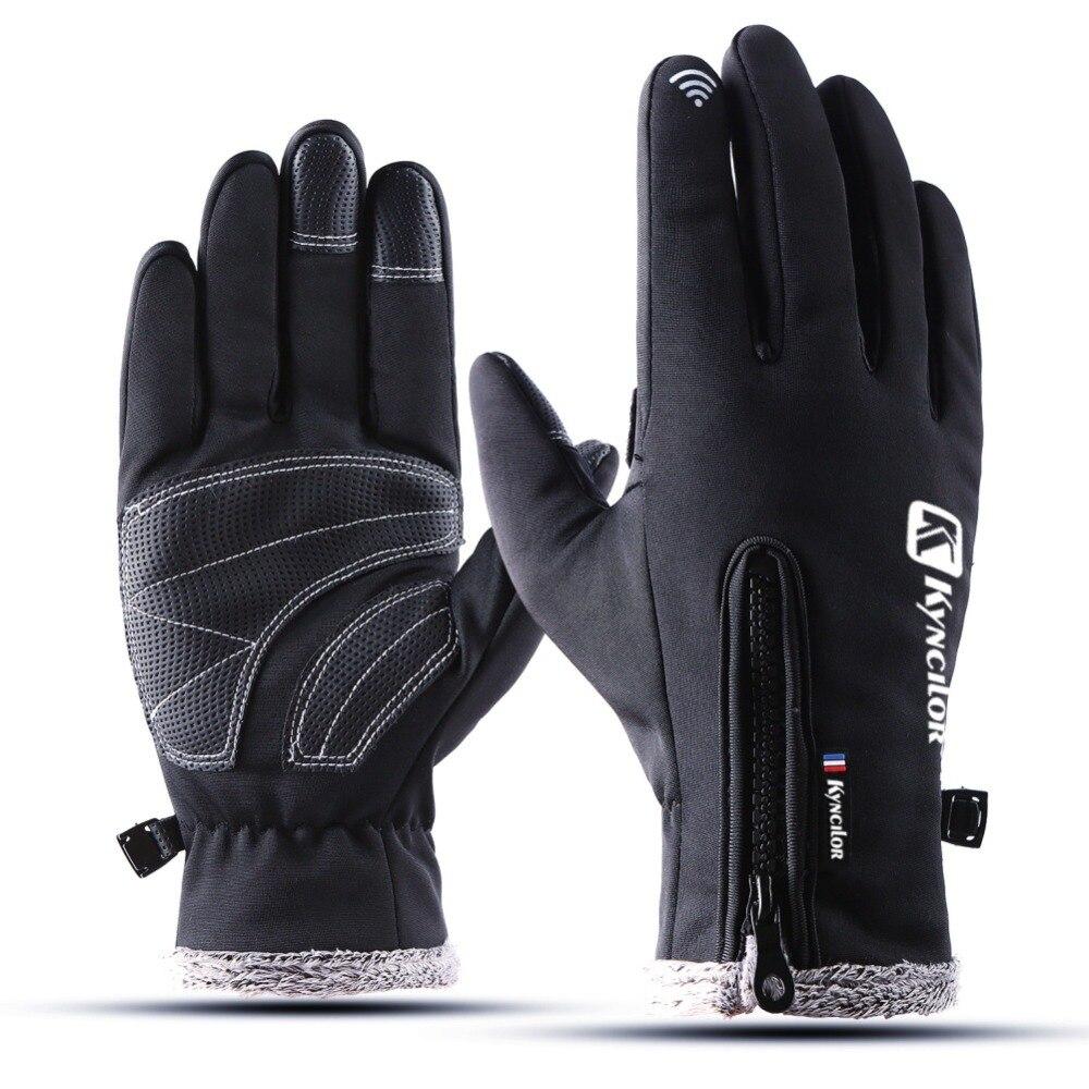 Thermal Ski Gloves Winter Fleece Waterproof Snowboard Gloves Snow Motorcycle Skiing Gloves Sportswear Audlt Kids Gloves Dropship