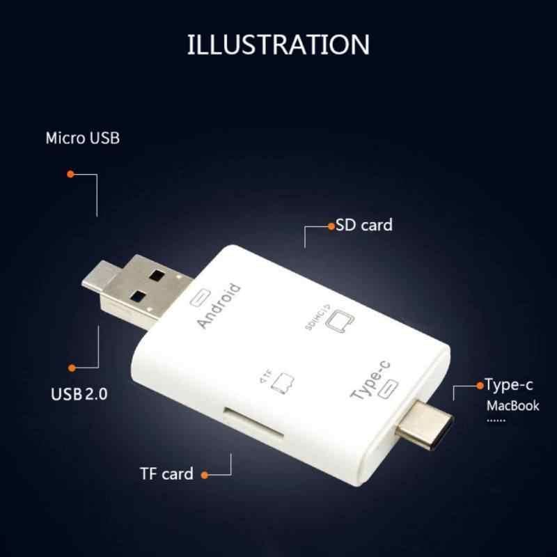 USB Type-C 3 في 1 متعددة الوظائف ذاكرة محوّل قارئ البطاقات USB دعم TF/SD OTG قارئ بطاقات لماك بوك كاميرا هاتف أندرويد