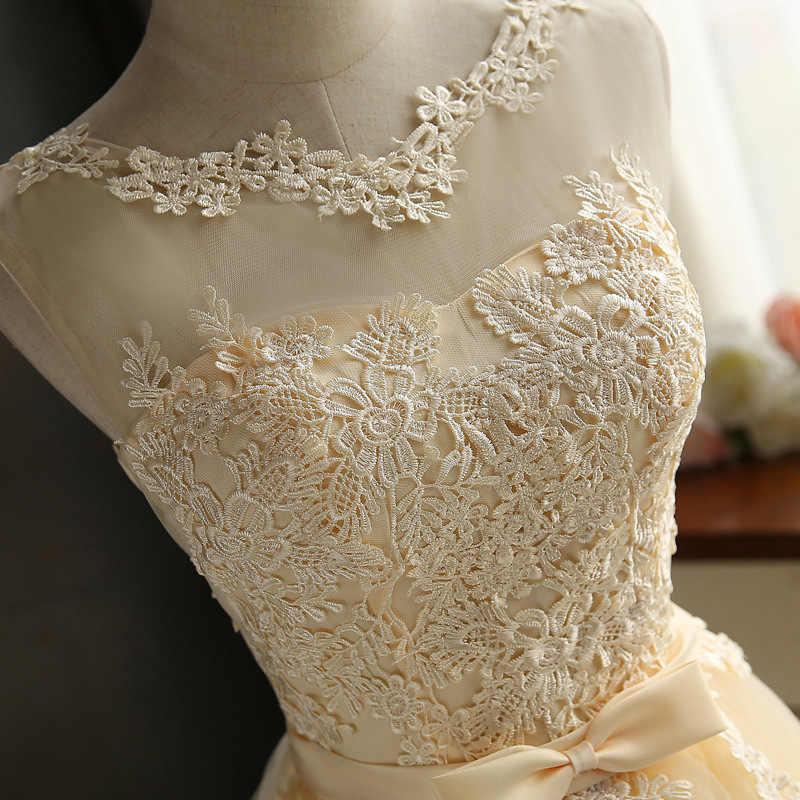 HJZY65X # кружевное платье цвета шампанского, серого, красного цвета короткое платье для подружки невесты оптовая продажа недорогое свадебное торжество платье для выпускного вечера для девочек 2019 оптовая продажа