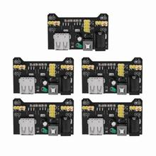 5Pcs/set 5V/3.3V Power Supply Board Breadboard Dedicated power module for breadboard alimentation reglable Wholesale недорого
