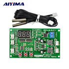 Aiyima 12V Dual Ways 3-wire Fan Intelligent Digital Temperature Thermostat Governor Speed Controller