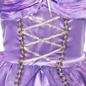 Image 5 - MUABABY Girls Rapunzel Princess Dress Costume Children Deluxe Tangled Dress up Clothing Kids Girl Part Dress Halloween Birthday